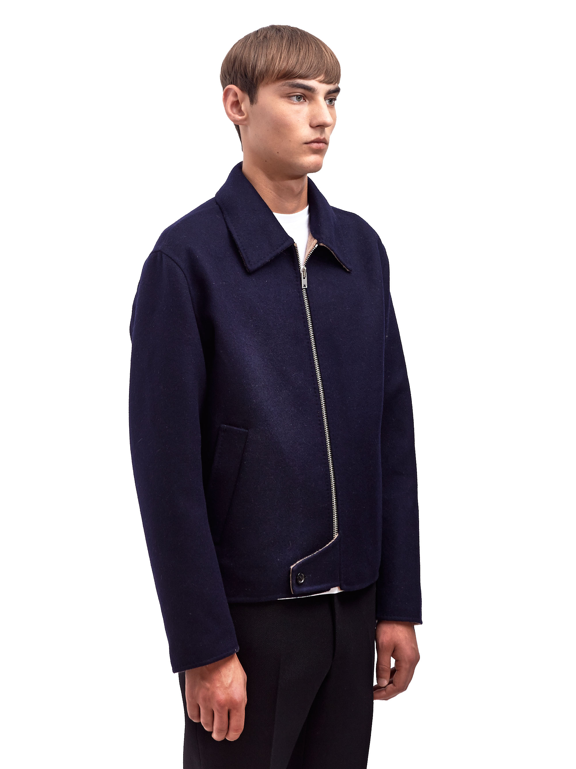 Yang Li Mens Virgin Wool Harrington Jacket in Blue for Men ...