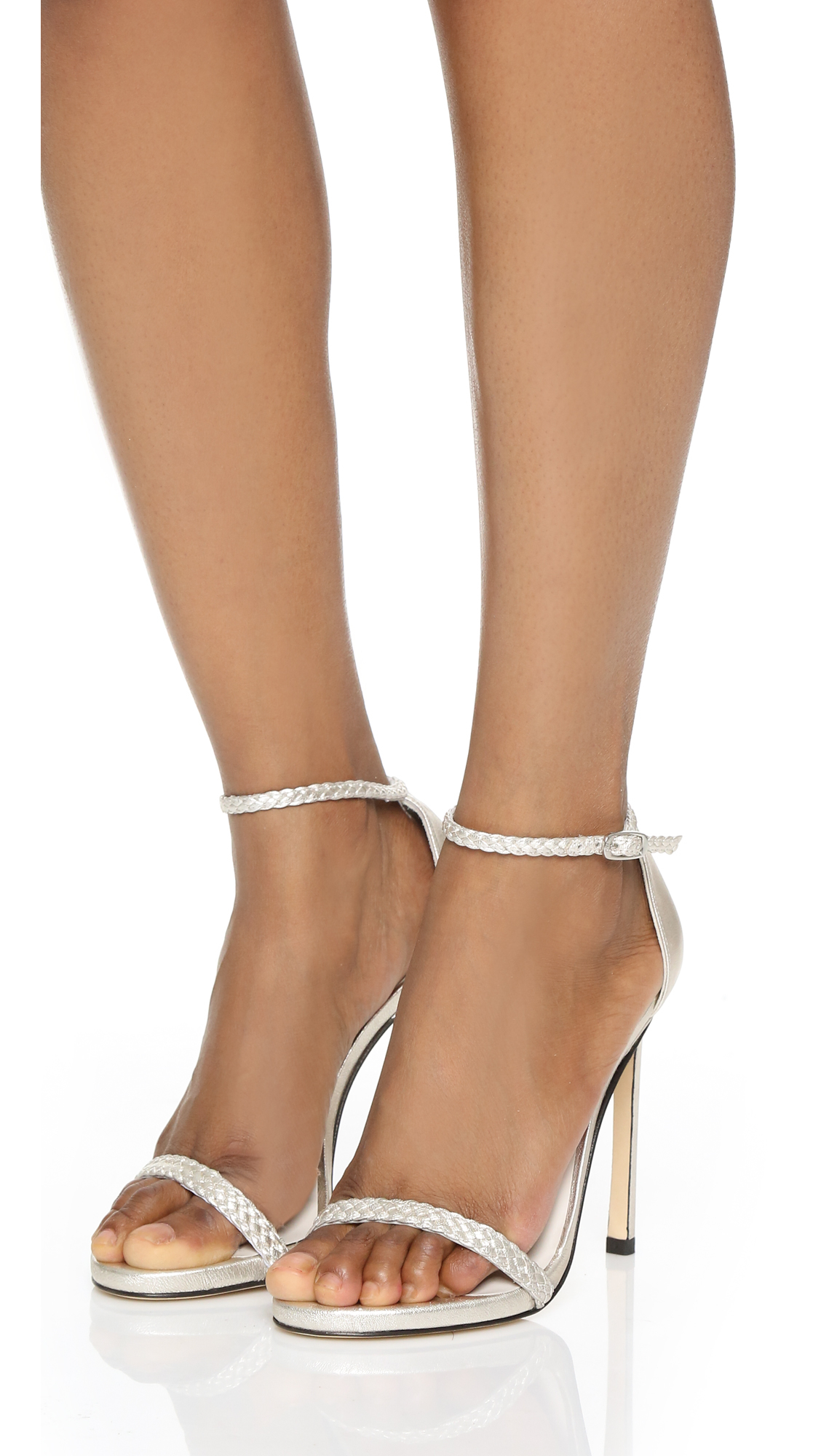 Lyst Stuart Weitzman Barebraid Sandals In White