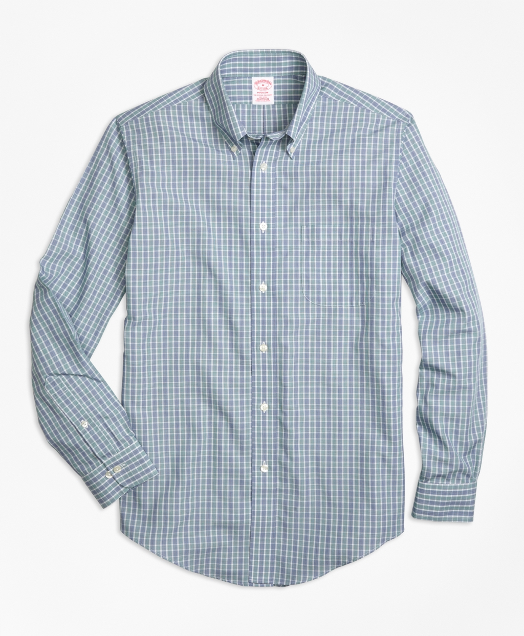 Brooks brothers non iron madison fit green check sport for Brooks brothers non iron shirts review