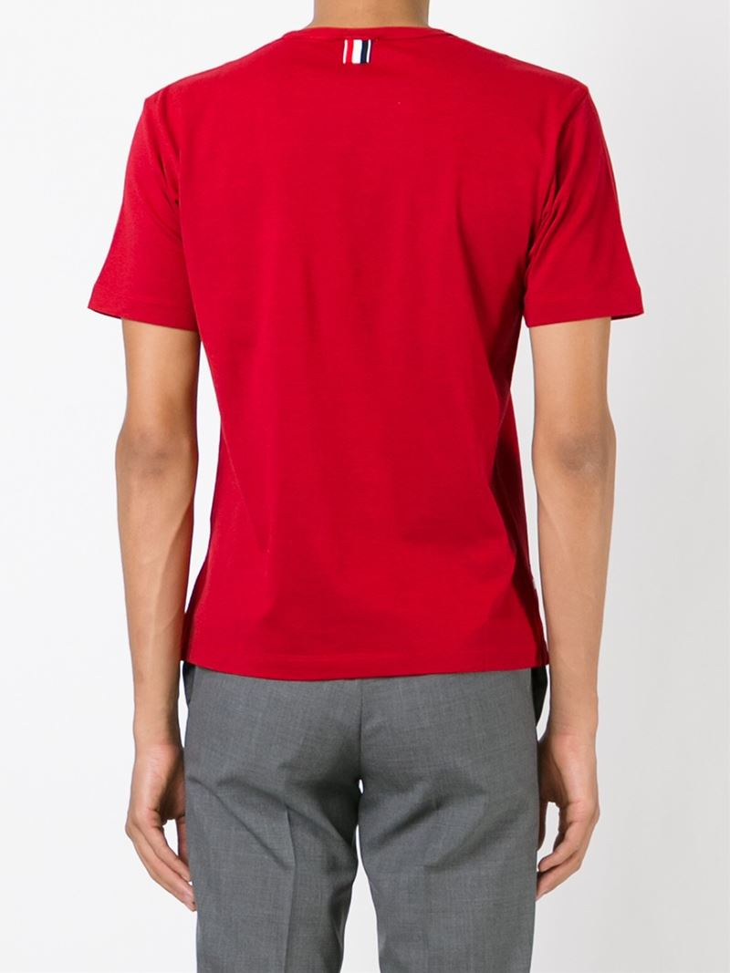 Red Pocket T-Shirt Thom Browne Find Great Online 2018 Cheap Online Extremely Online Free Shipping 100% Original New Arrival 2fZiE