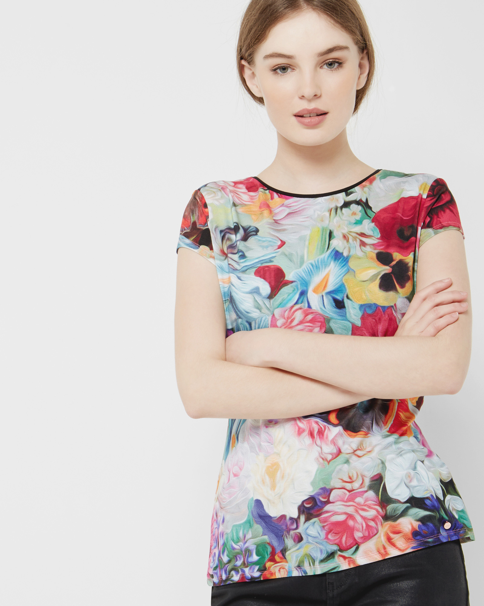 Ted baker floral swirl t shirt lyst for Ted baker floral shirt