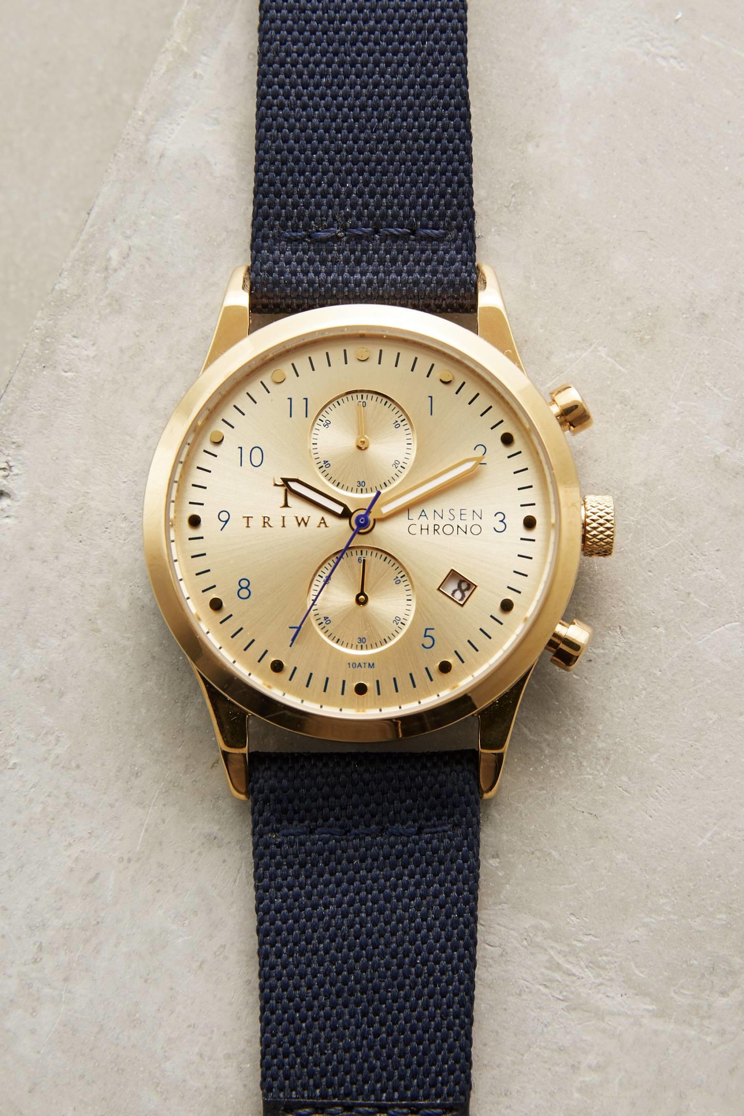 Triwa Lansen Chrono Watch in Blue
