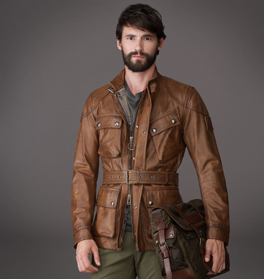 Leather belstaff jacket