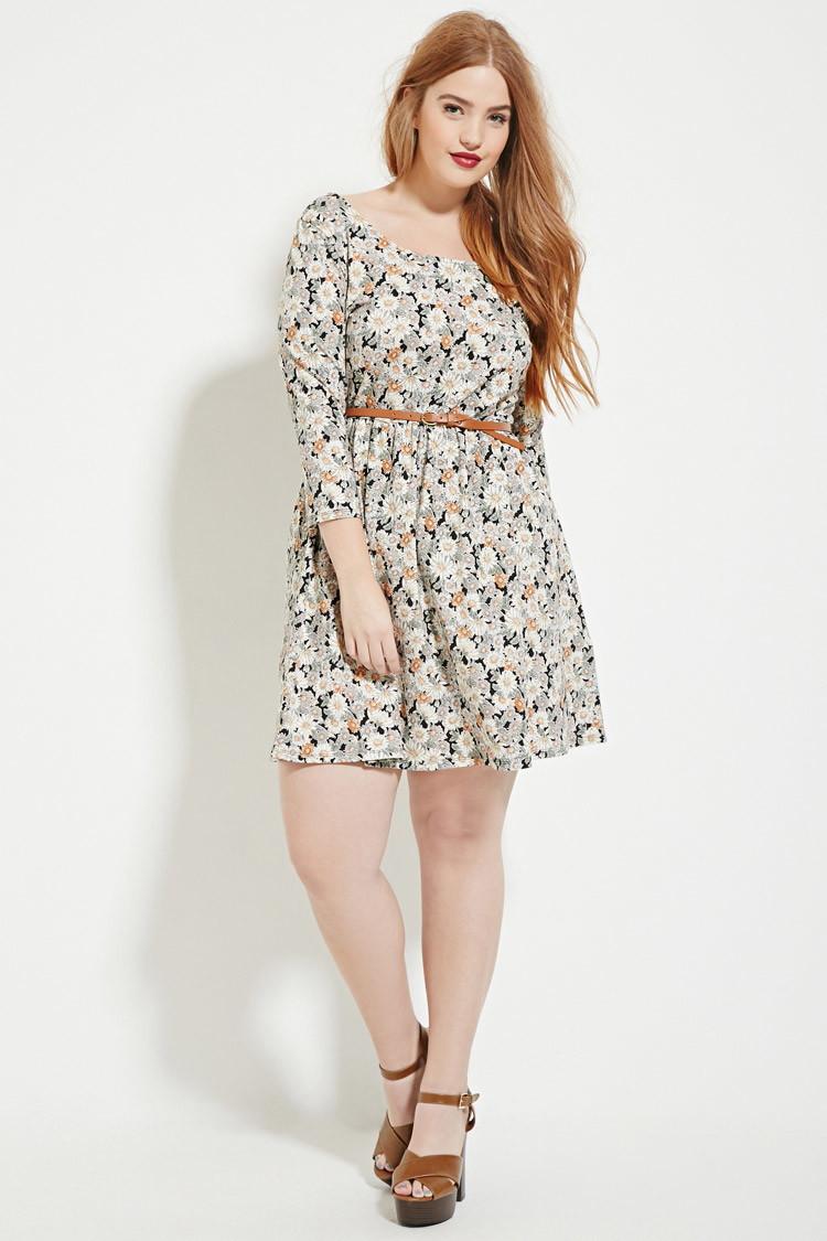 Black And White Plus Size Skater Dress   Lixnet AG