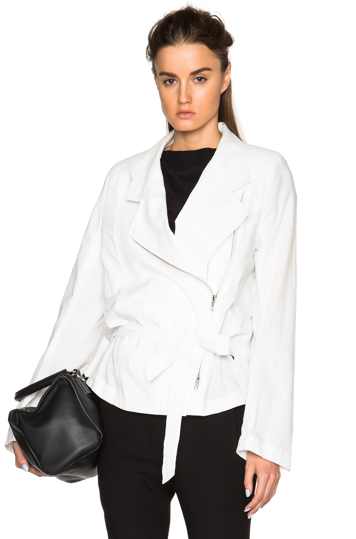 ann demeulemeester oversized blazer in white lyst. Black Bedroom Furniture Sets. Home Design Ideas