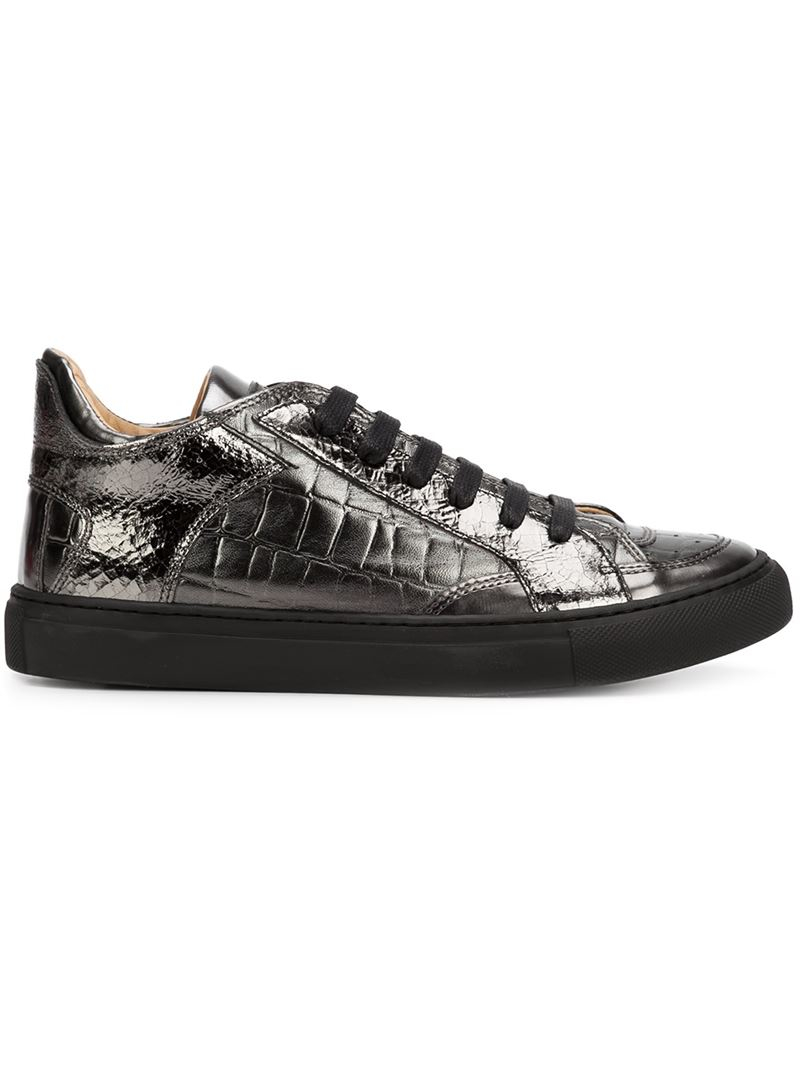 Mm6 by maison martin margiela lo top sneakers in silver for Mm6 maison margiela
