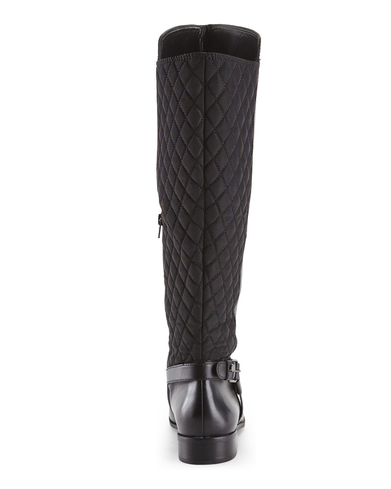 4657cb934d1 Anne Klein Black Kahlan Wide Calf Riding Boots