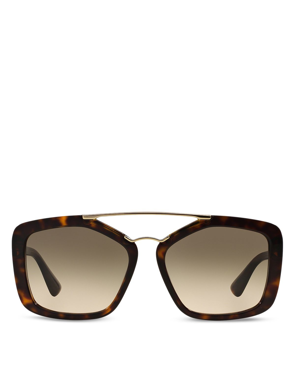 abc31396f4c ... discount code for lyst prada catwalk double bar square sunglasses 56mm  in brown f91f4 3cce1