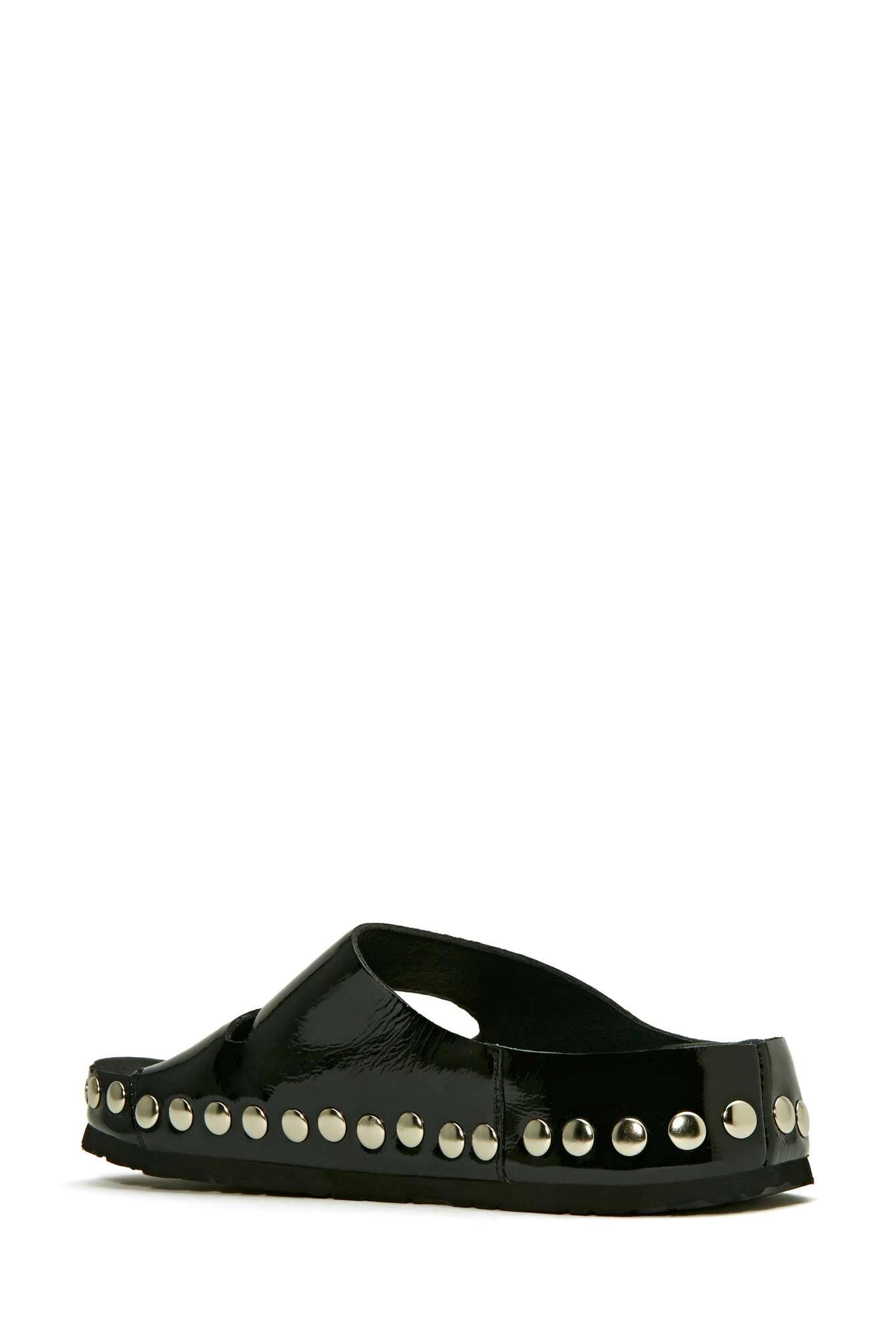 Nasty Gal Jeffrey Campbell Jerez Studded Sandal Black In