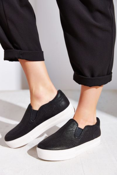 ash jungle leather slip on sneaker in black lyst