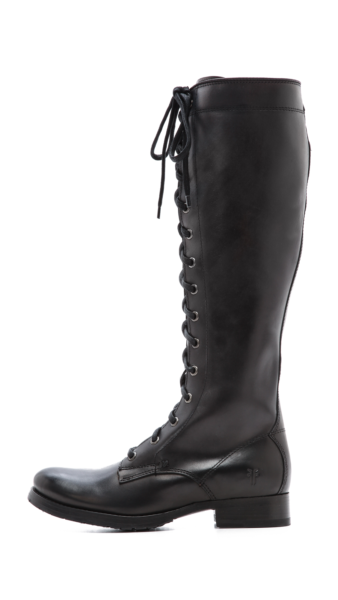 Frye Melissa Tall Lace Up Boots - Black