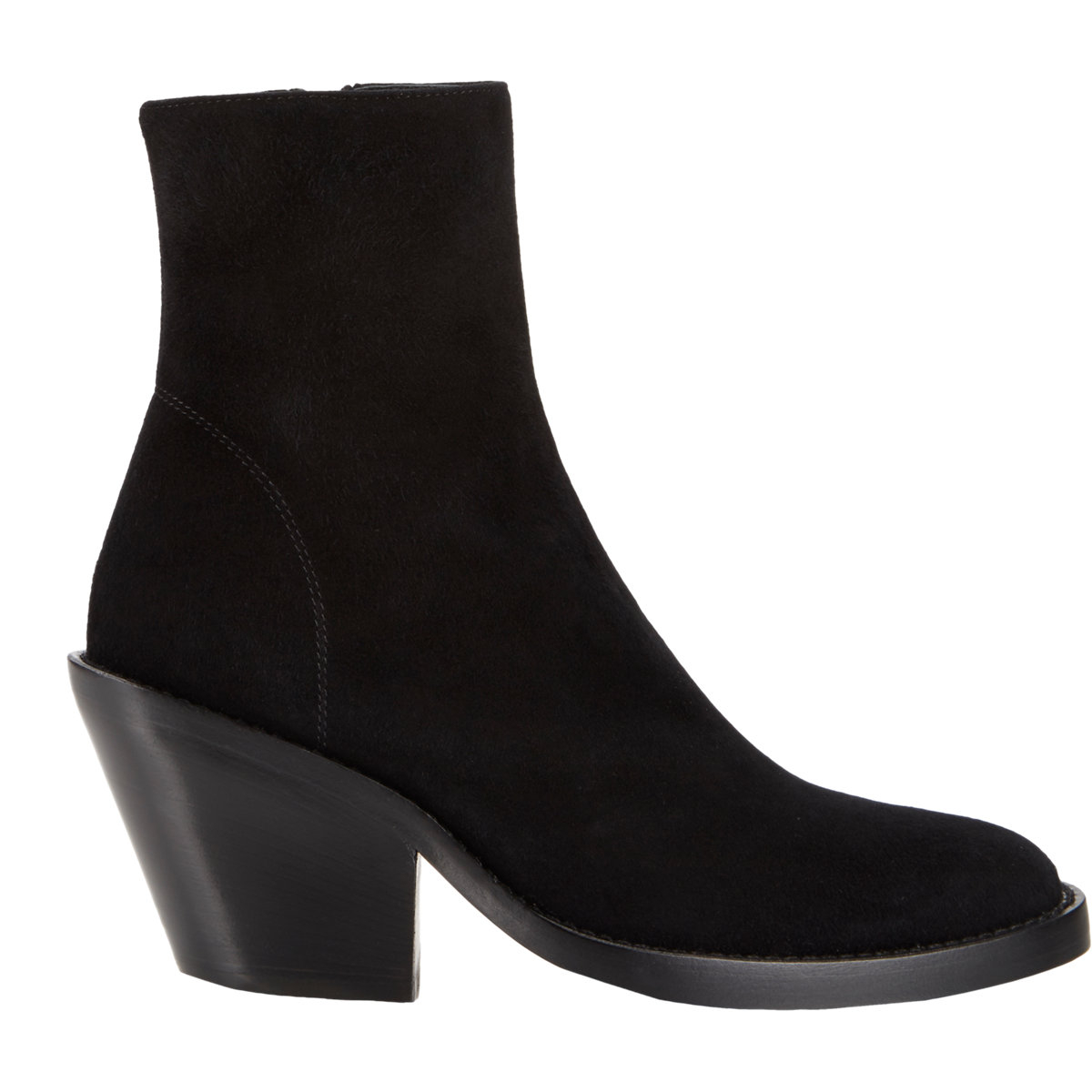 Ann demeulemeester Women's Side-zip Ankle Boots in Black | Lyst
