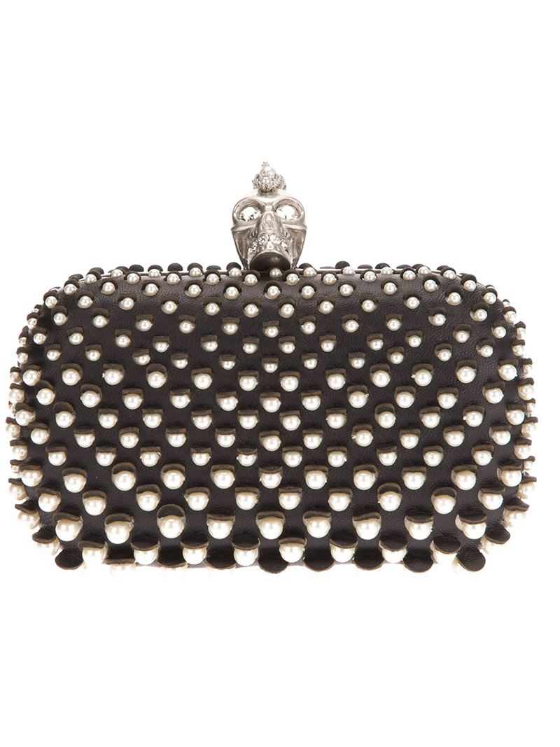 how to make iphone silent mcqueen skull pearl embellished box clutch in 2950