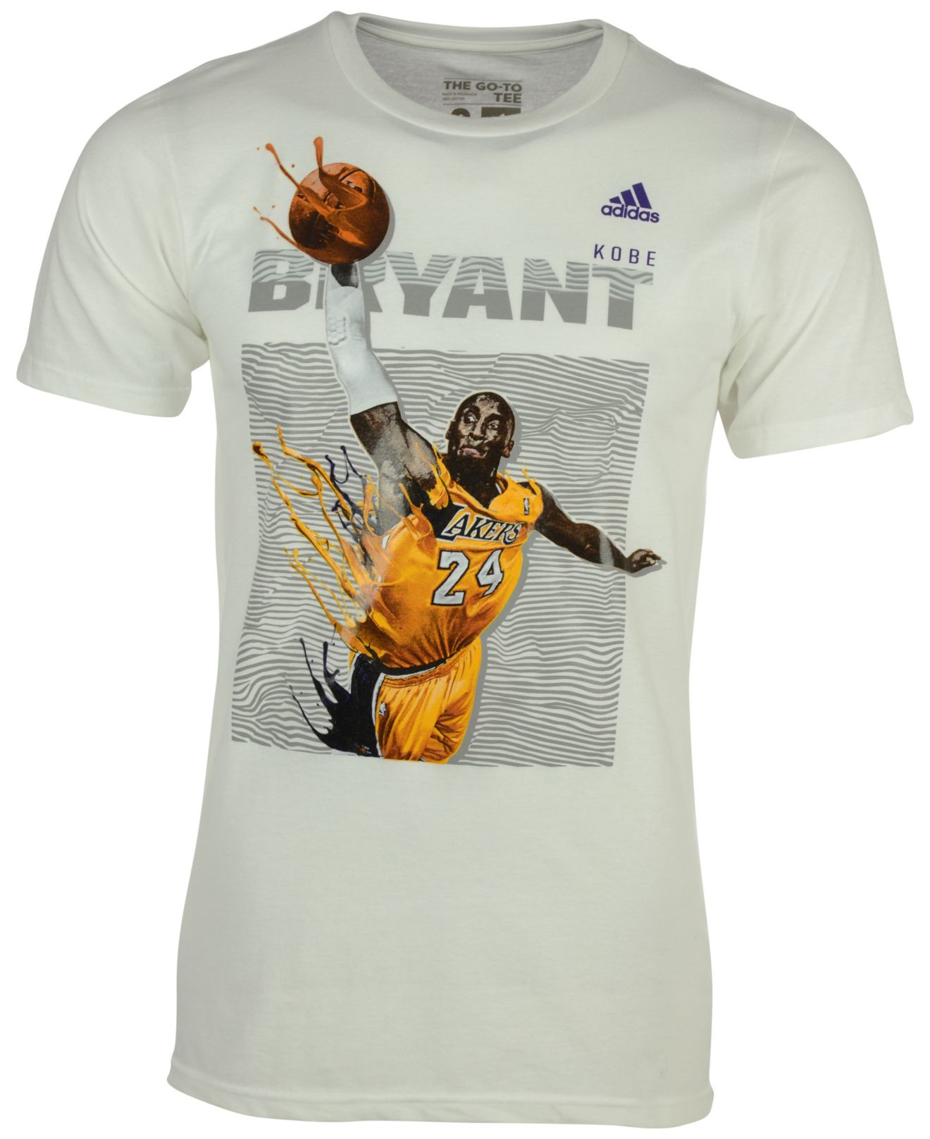 bryant lakers t-shirt adidas