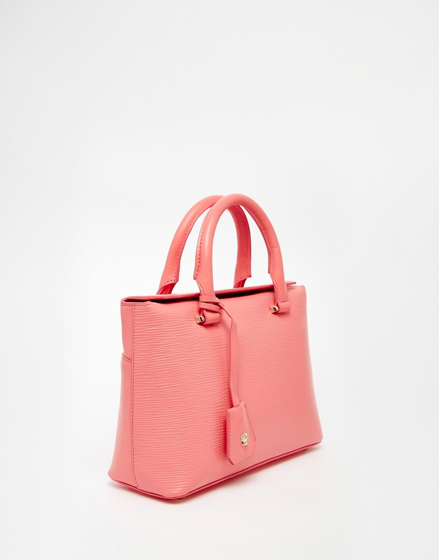 Modalu Leather Mini Tote Bag in Pink | Lyst