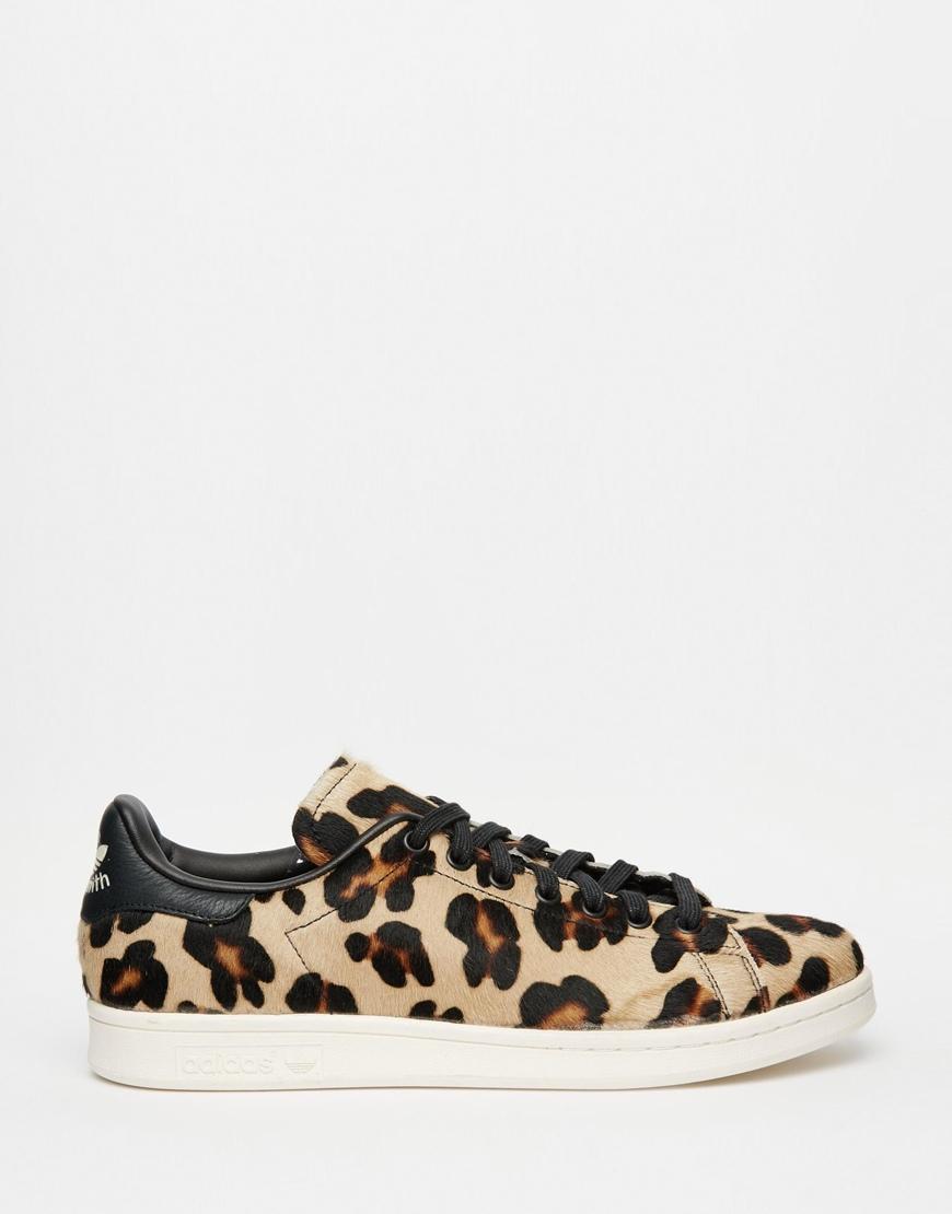 the best attitude 9b293 6f965 adidas Originals Stan Smith Leopard-print Pony Hair Sneakers