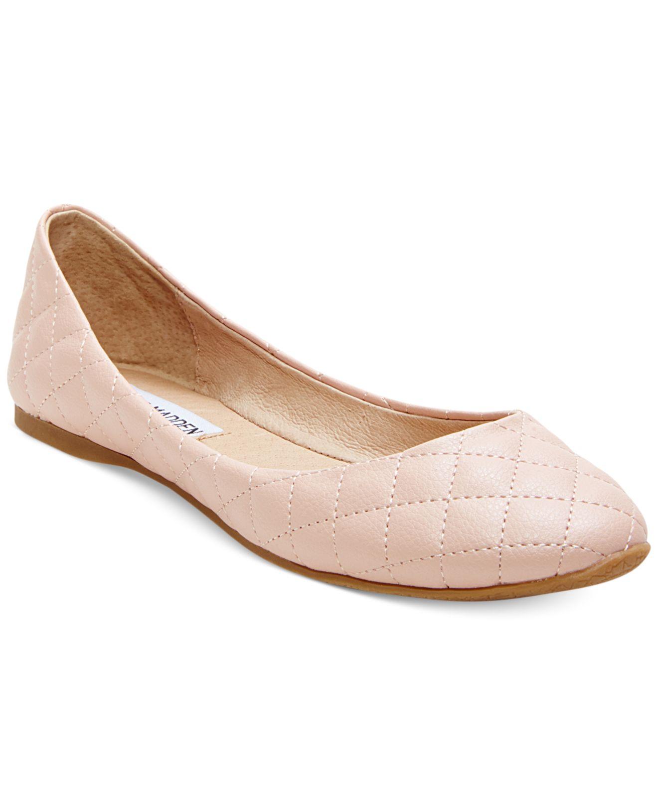 96380278353 Lyst Steve Madden Kwiltt Quilted Flats In Pink. Gallery. Lyst Steve Madden  Gold Tone Kwiltt Ballet Flats In Metallic