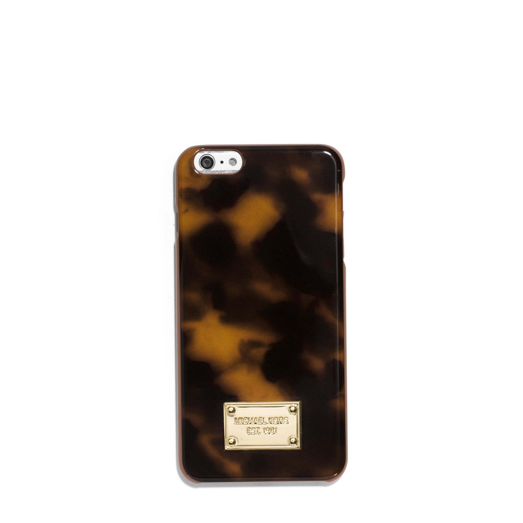 huge selection of 1553d e06a0 Michael Kors Black Tortoise-acetate Smartphone Case