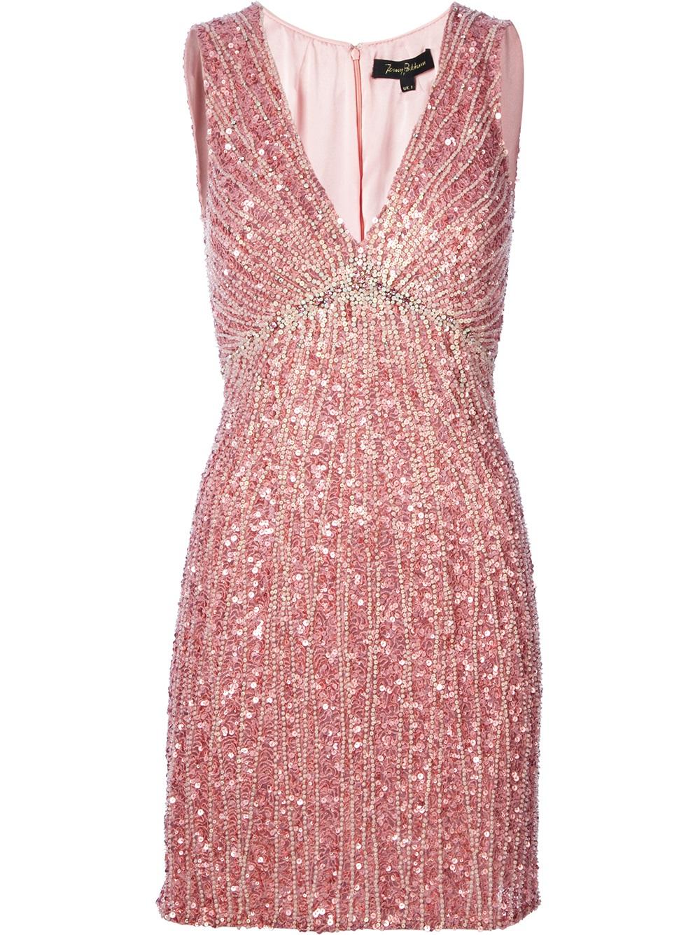 e0f5f3747cd2 Jenny Packham Sequin Embellished Dress in Pink - Lyst