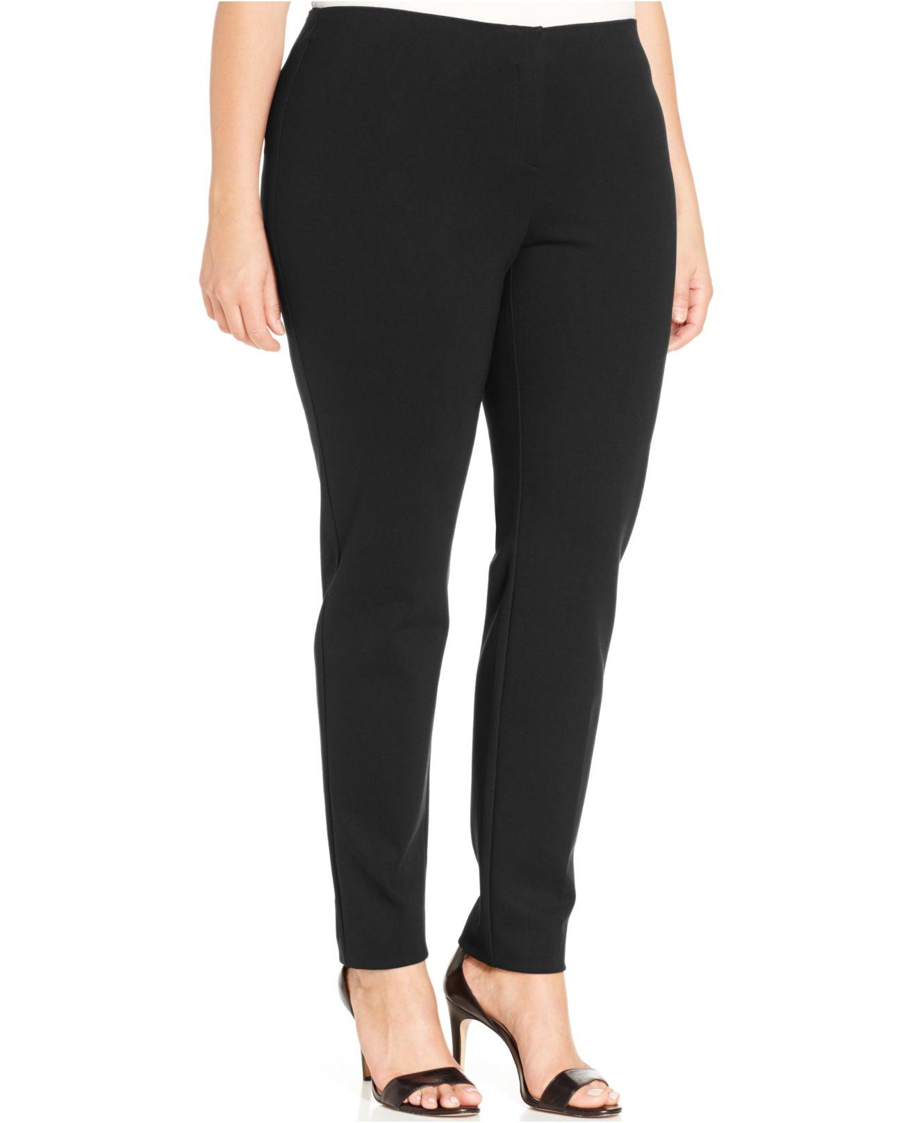 Alfani Plus Size Slim-fit Skinny Pants in Black