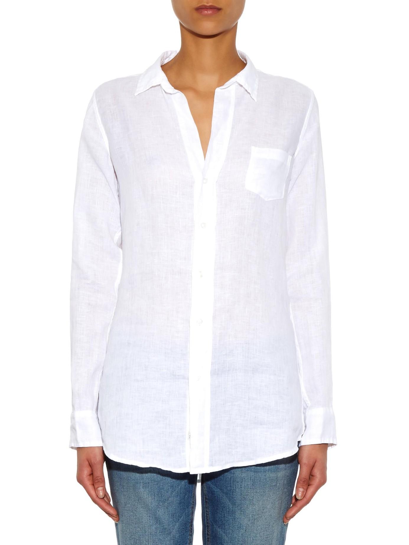 06b1bd50 Frank & Eileen Shirley Linen Shirt in White - Lyst