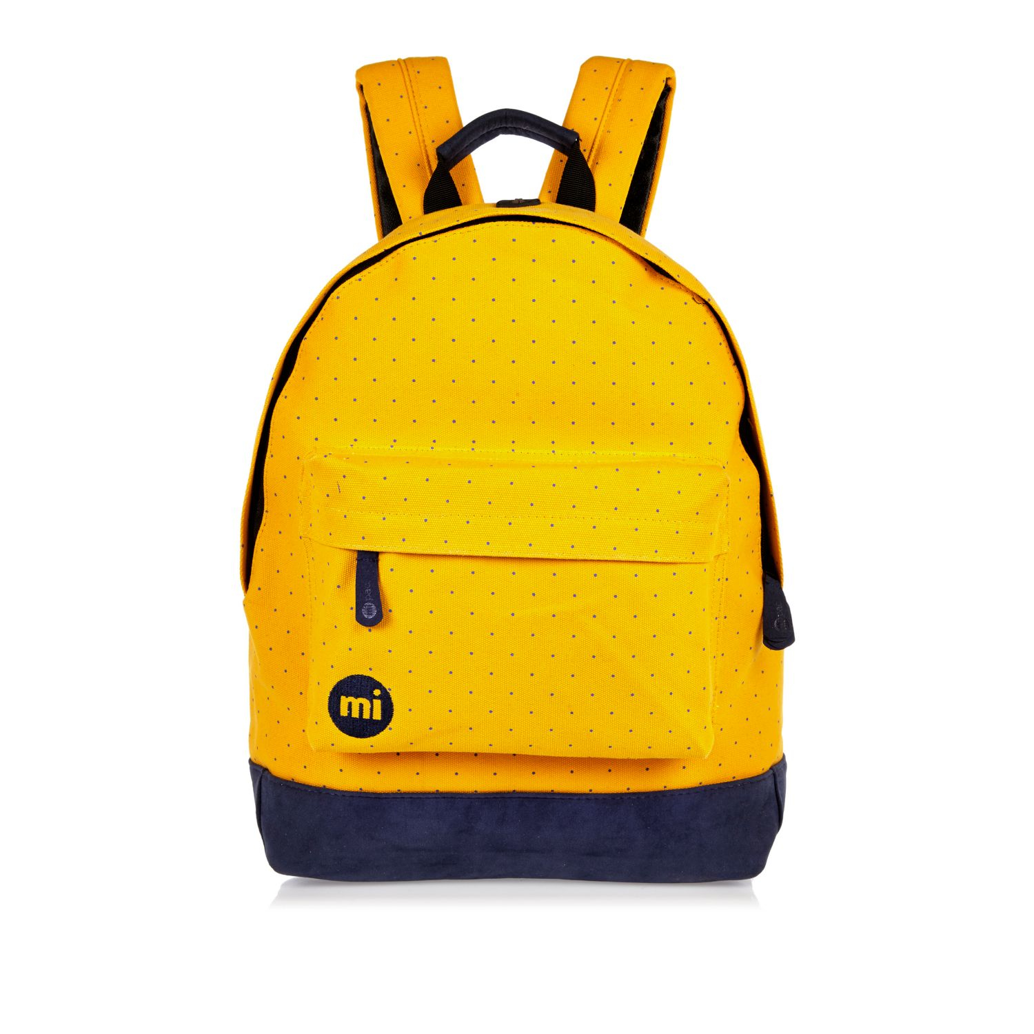 River Island Yellow Mipac Dotty Backpack In Yellow For Men