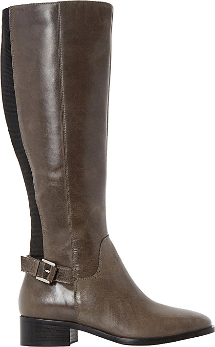 7aa3393ae50 Dune Vinny Leather Knee-high Boots in Gray - Lyst