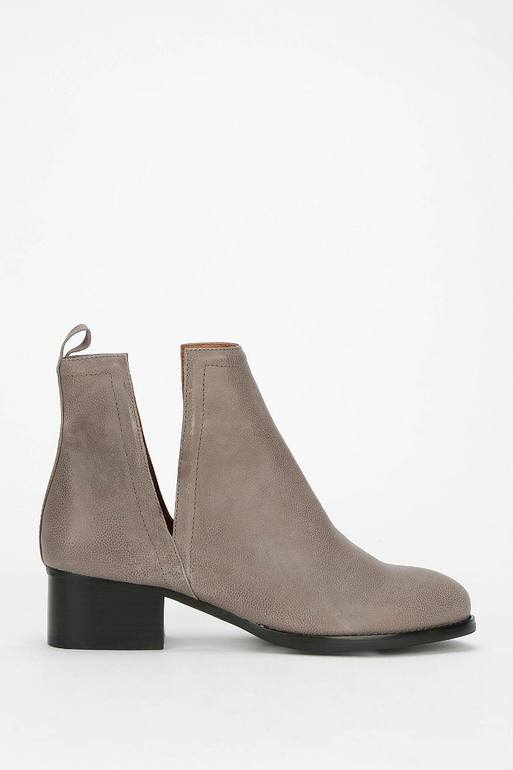 jeffrey cbell oriley cutout ankle boot in gray grey