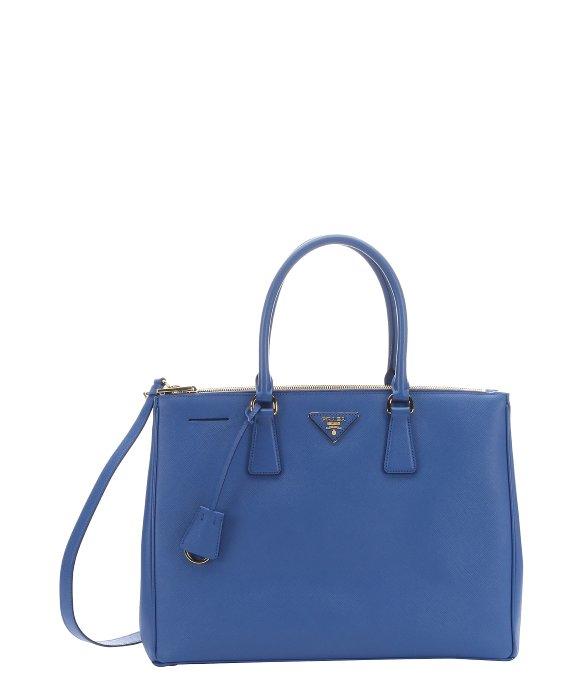 Prada Cobalt Blue Saffiano Leather Top Handle Bag in Blue (cobalt ... - prada pouch baltic blue