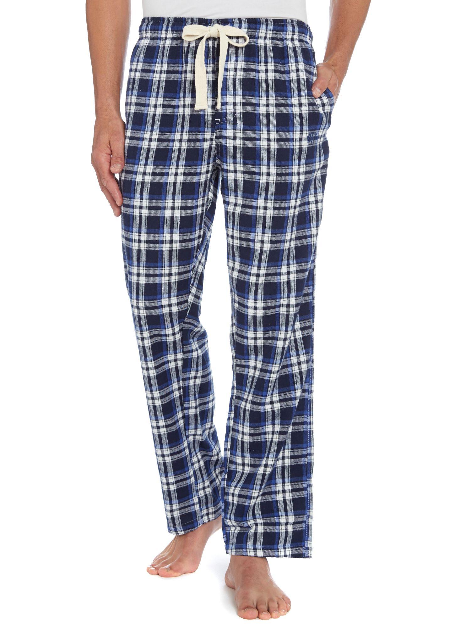 Howick Tartan Flannel Pyjama Pants In Blue For Men Lyst