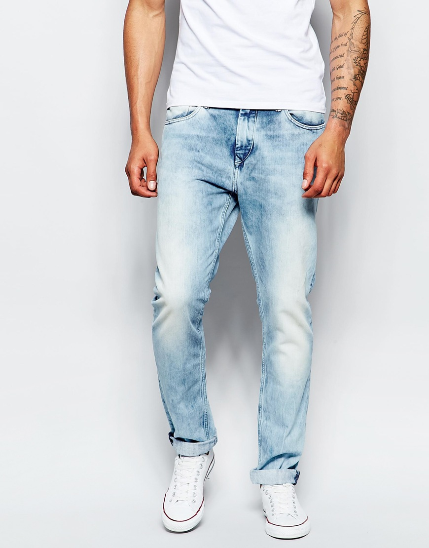 lyst tommy hilfiger hilfiger denim skinny jean steve colorado vintage in blue for men. Black Bedroom Furniture Sets. Home Design Ideas