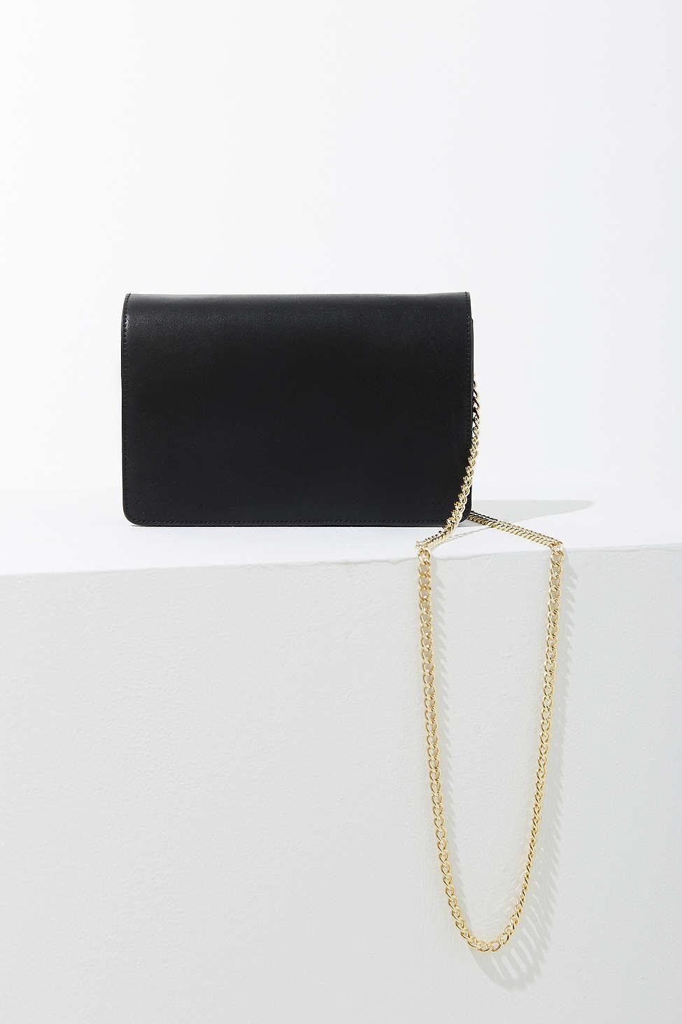 Lyst - Silence + Noise Jolene Chain Crossbody Bag in Black 3bfe01b0a0d2d