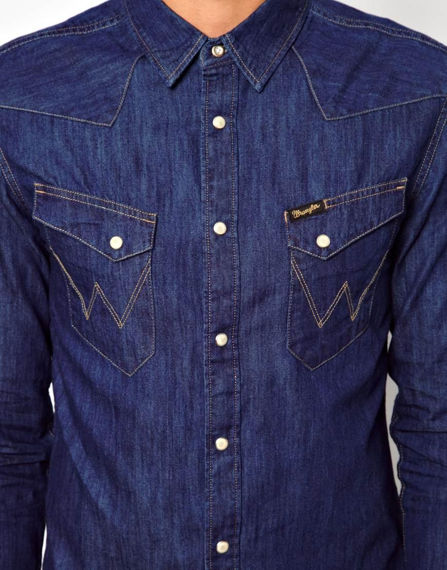 9143e03e64 Wrangler Western Denim Shirt - BCD Tofu House