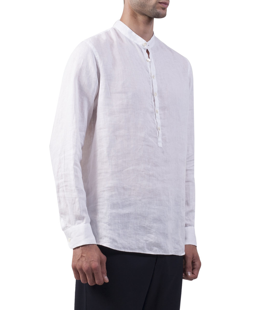 Giorgio Armani White Linen Shirt In White For Men Lyst