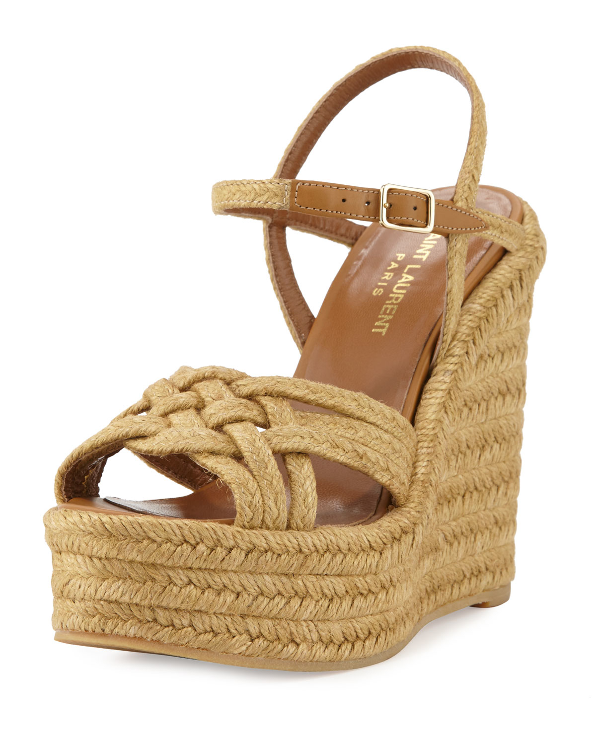latest design pretty cool lace up in Braided Jute Wedge Sandal