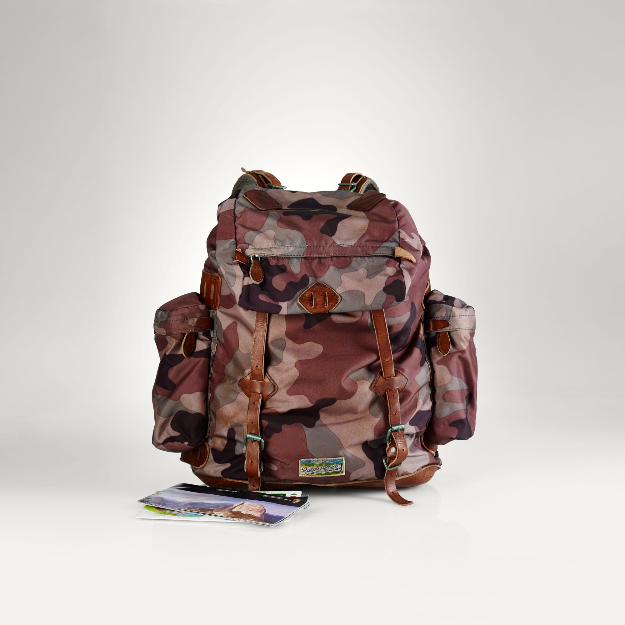 Polo Ralph Lauren Camouflage Backpack In Multicolor For