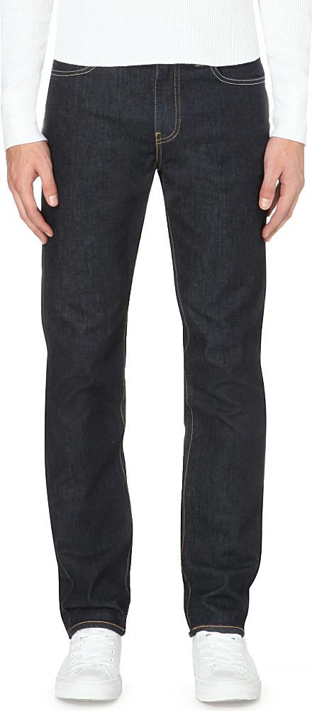 levi 39 s 511 slim fit stretch denim jeans in black for men. Black Bedroom Furniture Sets. Home Design Ideas