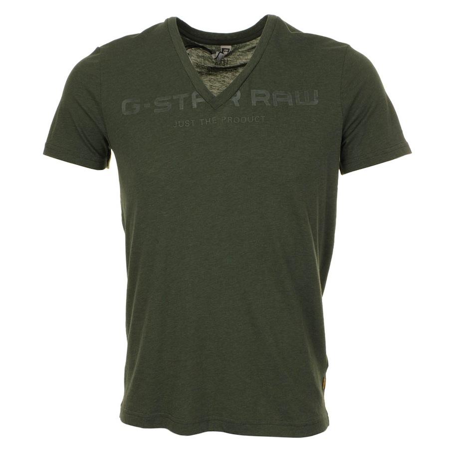 g star raw deep v t shirt nuri in green for men lyst. Black Bedroom Furniture Sets. Home Design Ideas