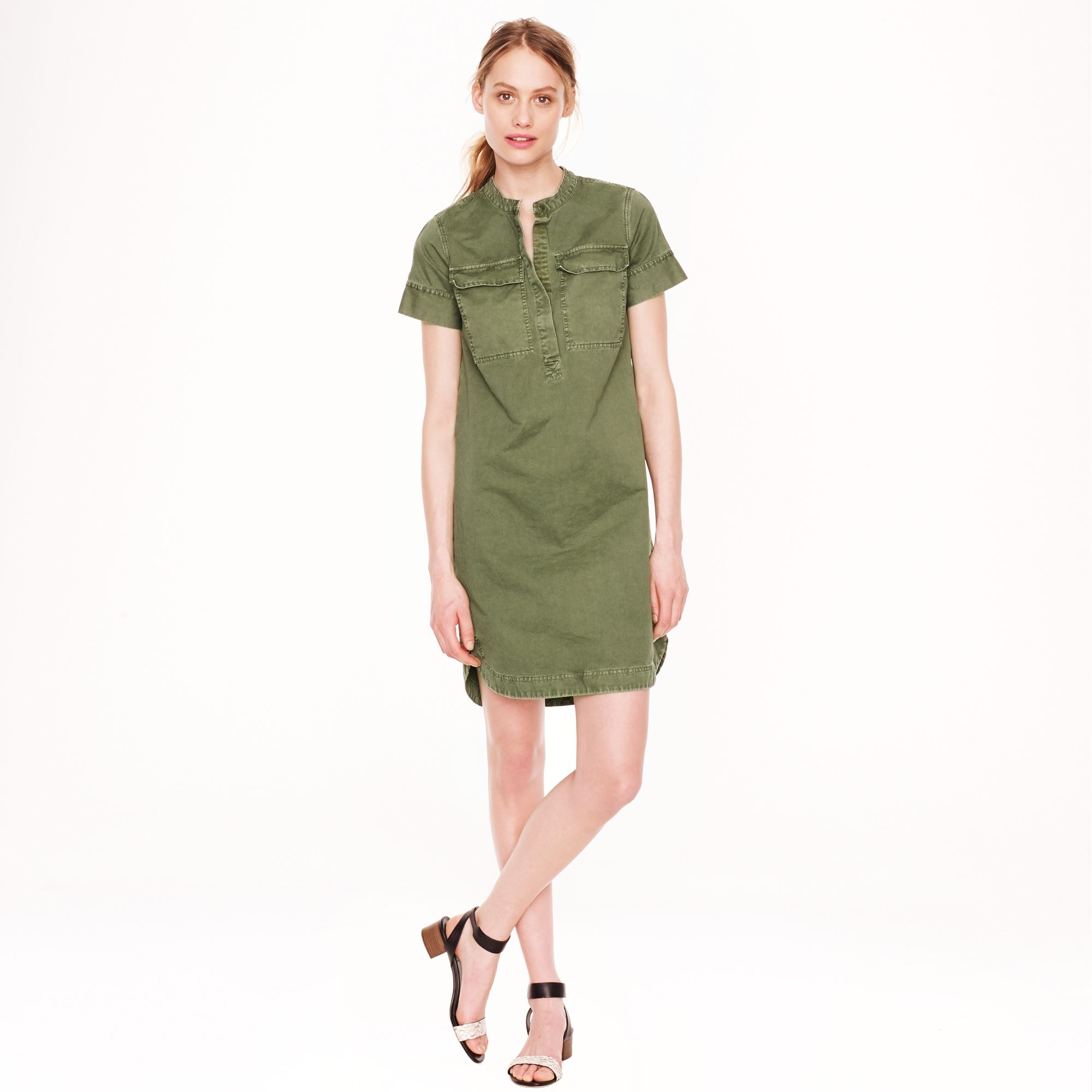 J.crew Military Shirtdress in Green