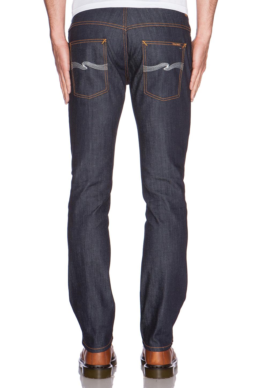 Nudie jeans Thin Finn in Blue for Men (organic dry ecru ...