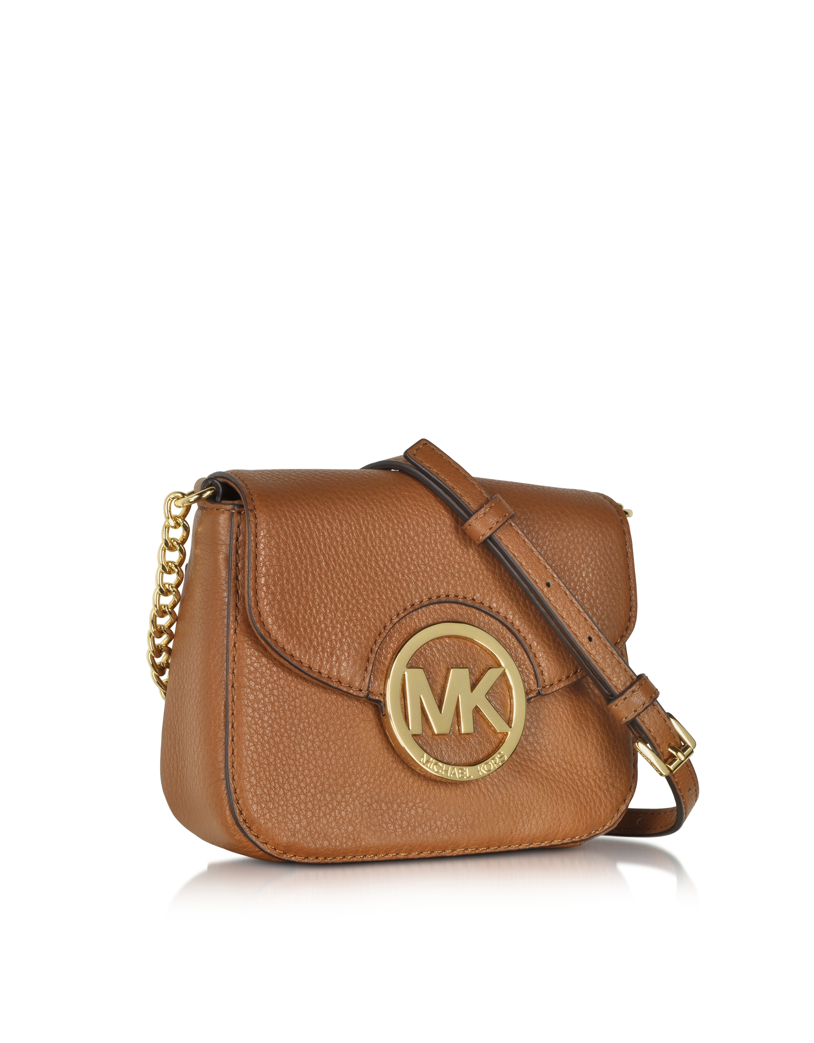 6036bad37583e Lyst - Michael Kors Fulton Luggage Leather Small Crossbody Bag in ...