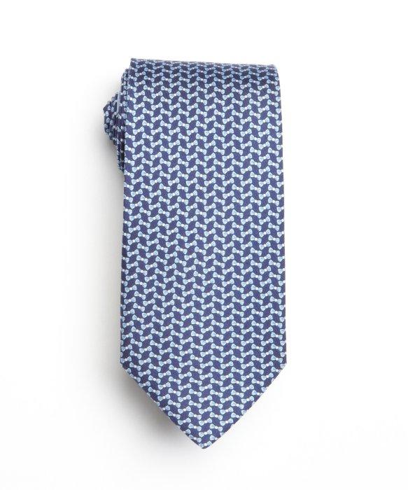 Ferragamo Marine Blue Bow Tie Print Silk Tie in Blue for Men (marine ...