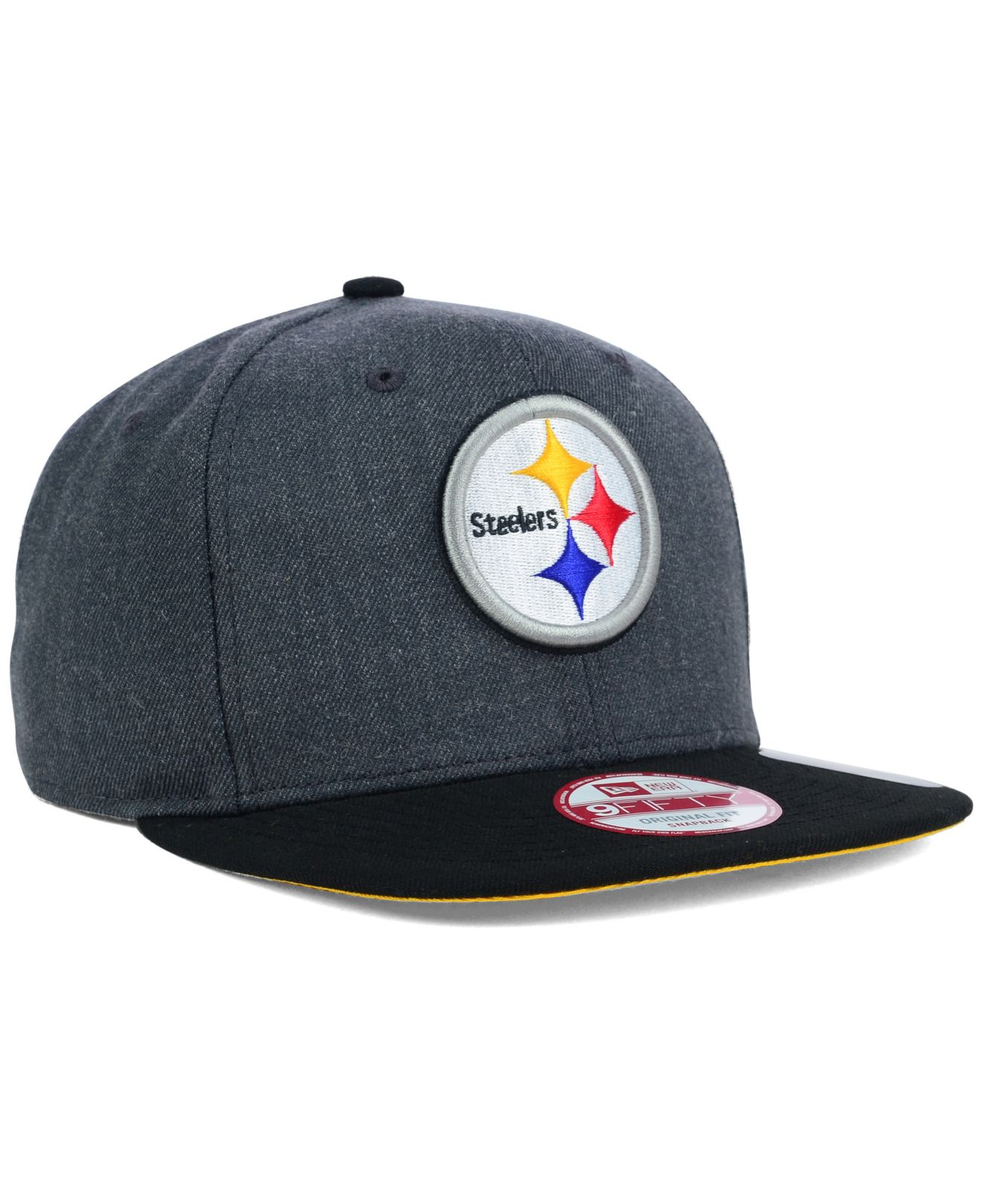 07a011cec Lyst - Ktz Pittsburgh Steelers 2-tone Action 9fifty Snapback Cap in ...