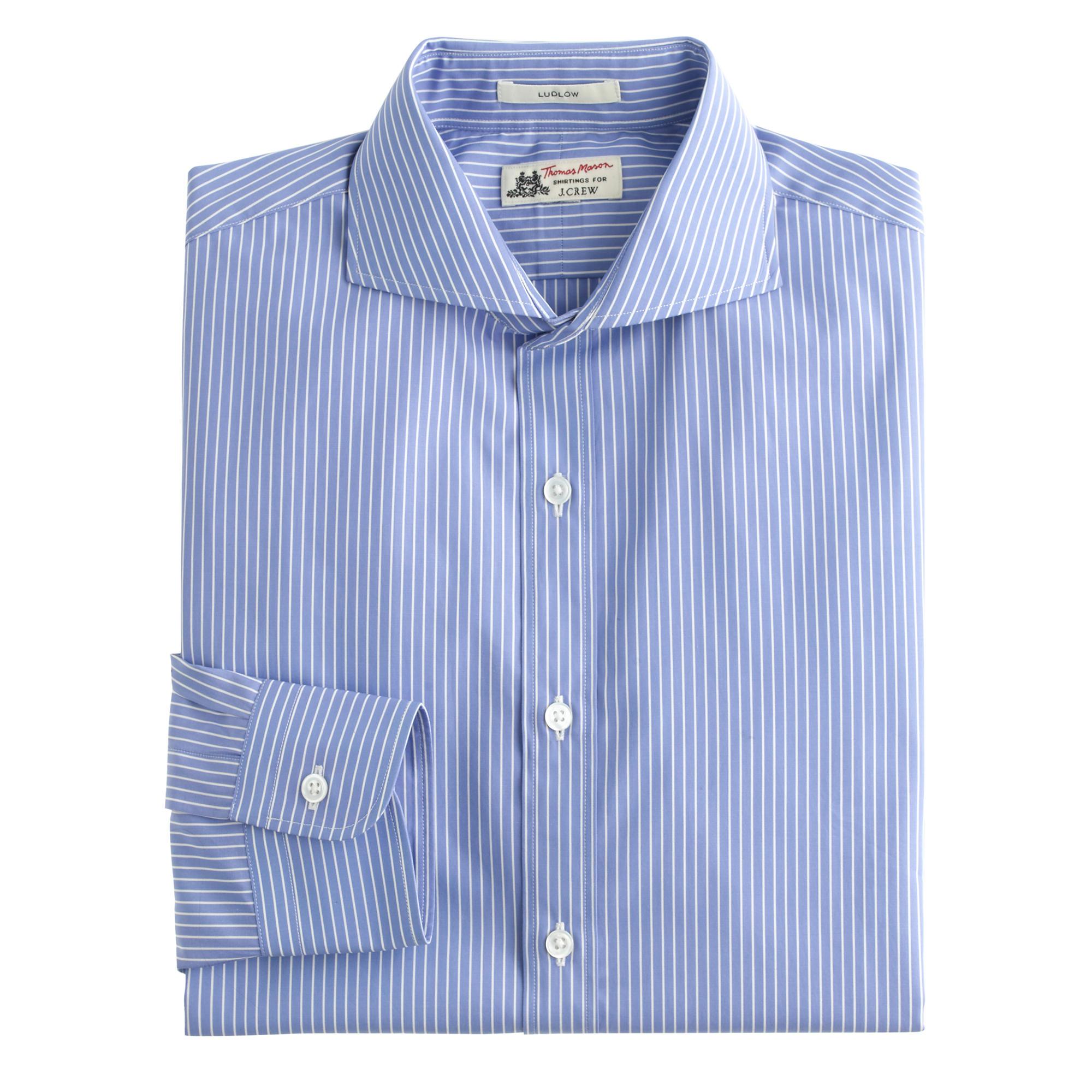 Lyst j crew thomas mason ludlow shirt in atlantic blue for Thomas mason dress shirts