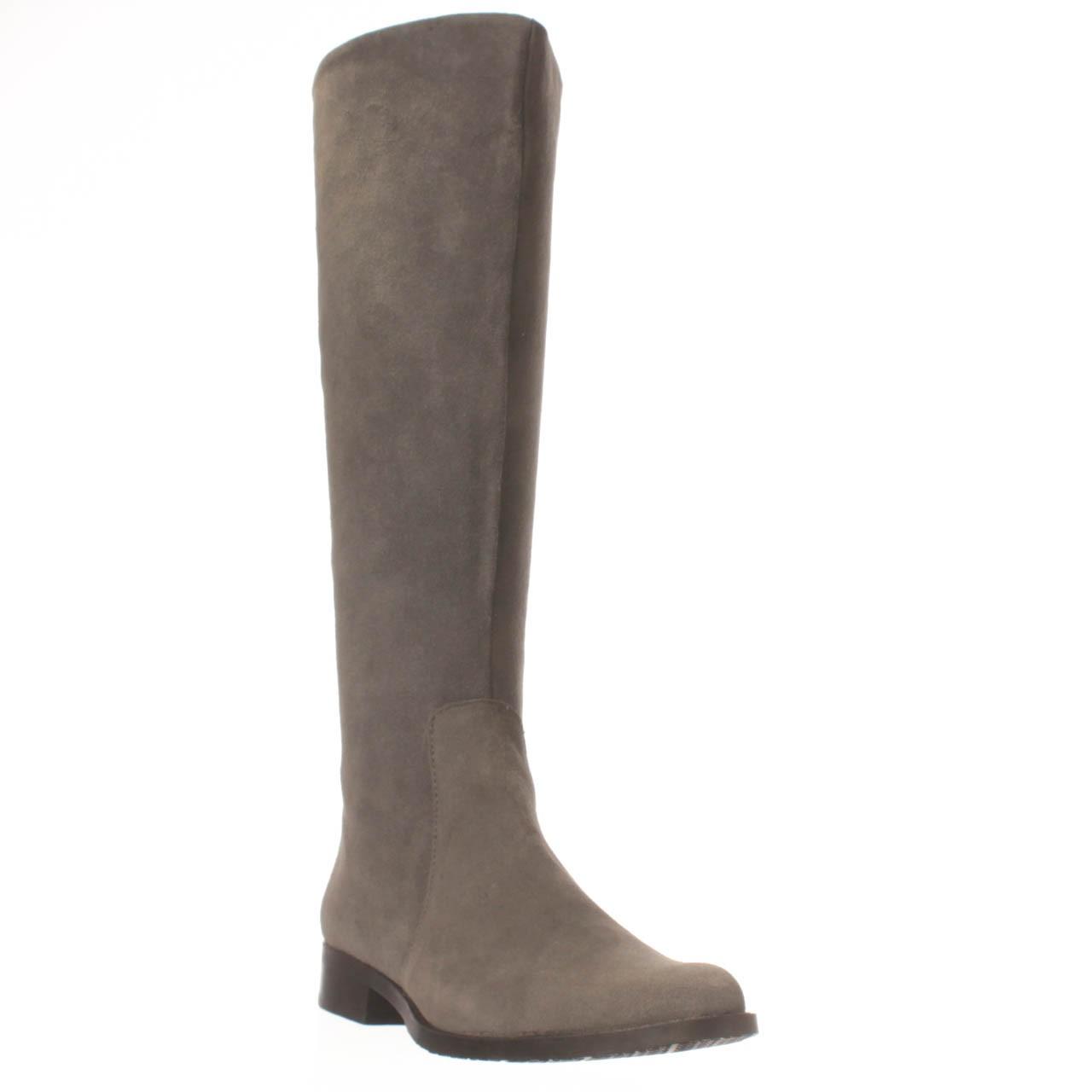 calvin klein taylie knee high boot in gray lyst