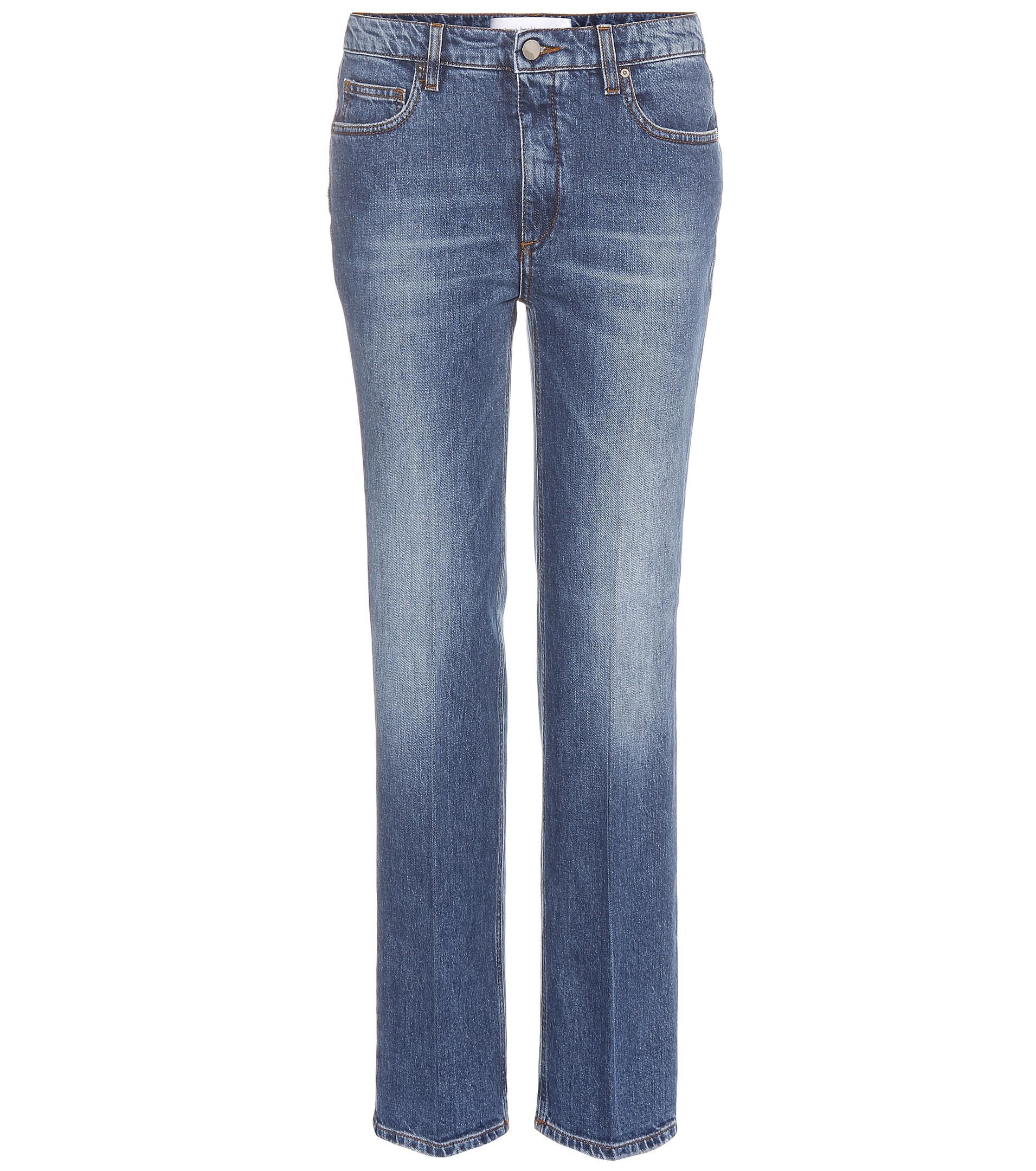 victoria beckham column leg jeans in blue lyst. Black Bedroom Furniture Sets. Home Design Ideas