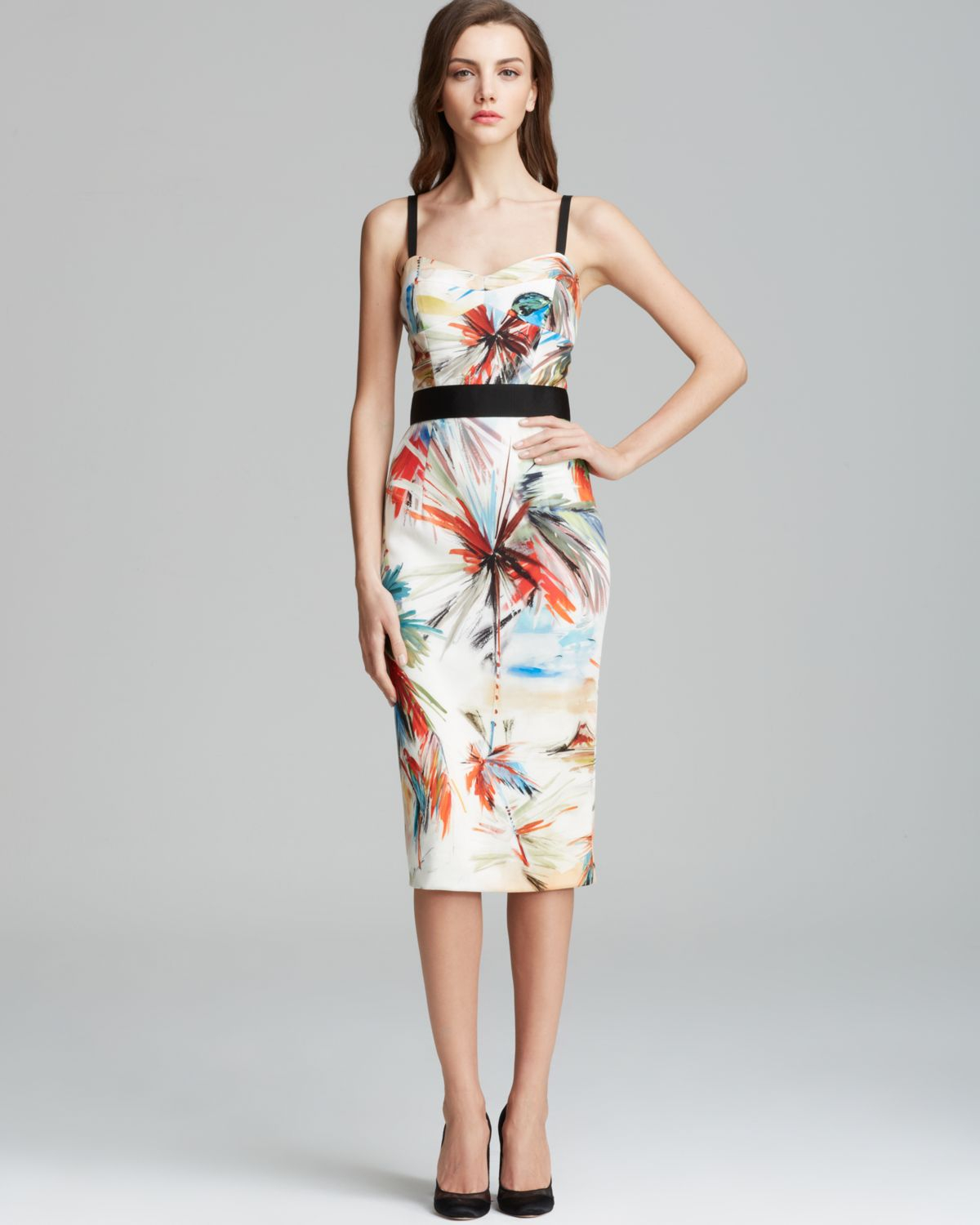 Lyst Milly Dress Parrot Print Bustier Strap