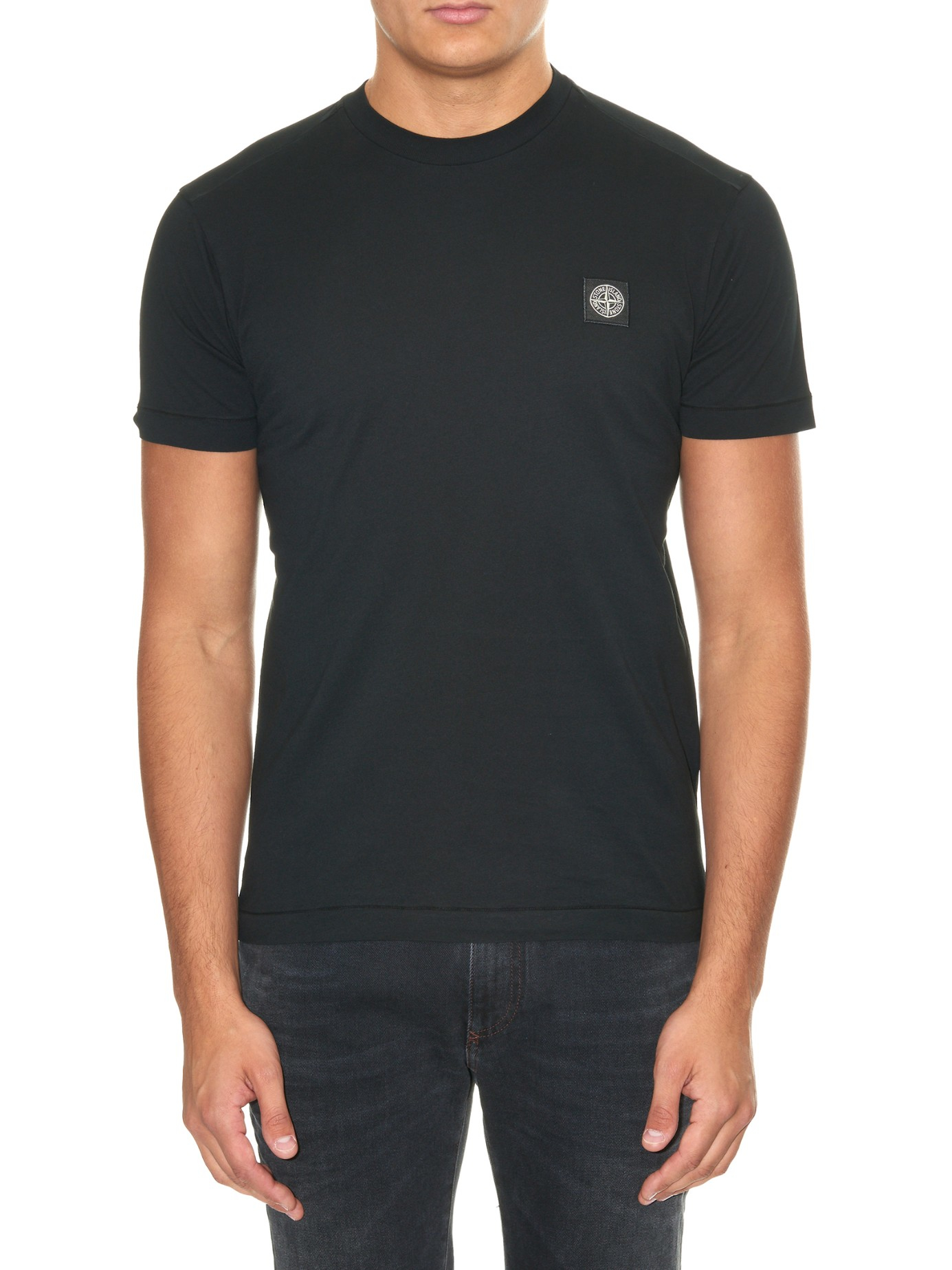646accb8fe2ad Lyst - Stone Island Logo-Patch Jersey T-Shirt in Black for Men