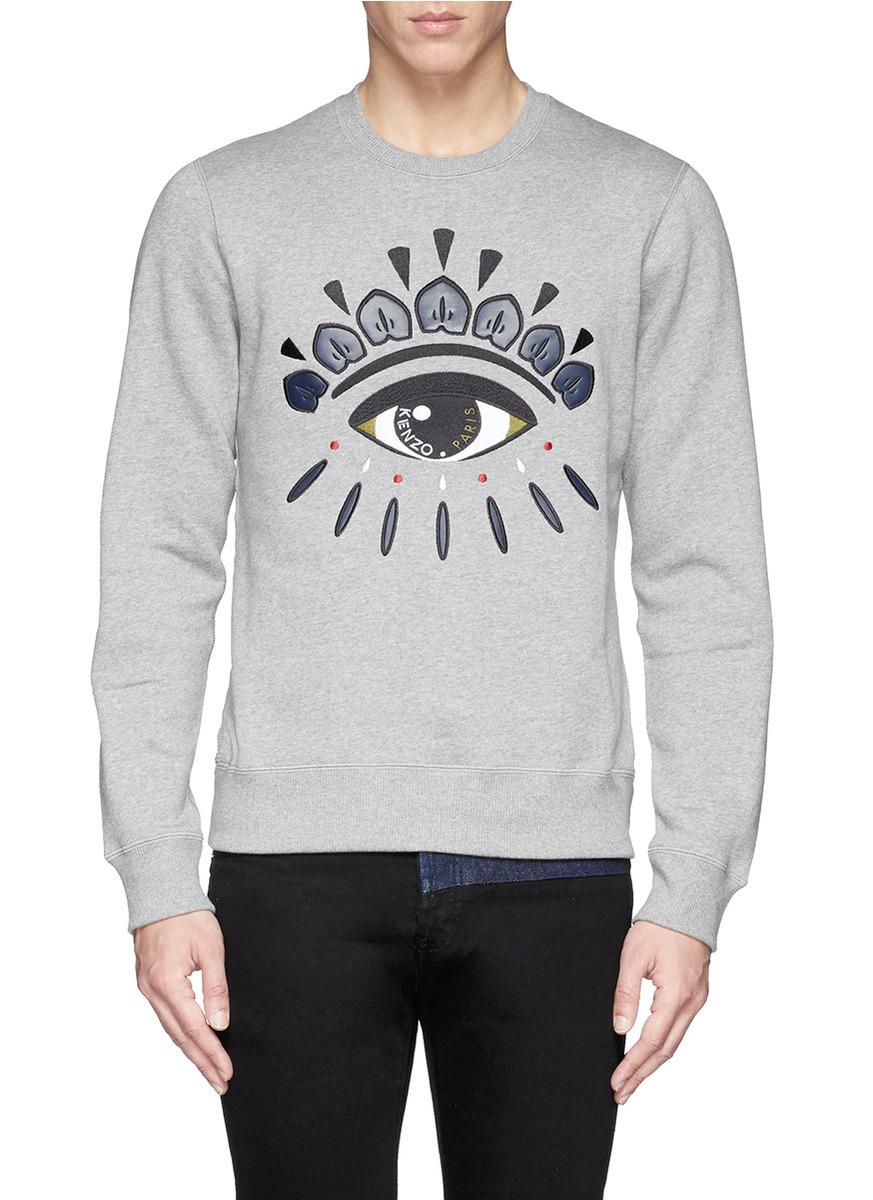 c2197bb43 KENZO Graphic Eye Sweatshirt in Gray for Men - Lyst