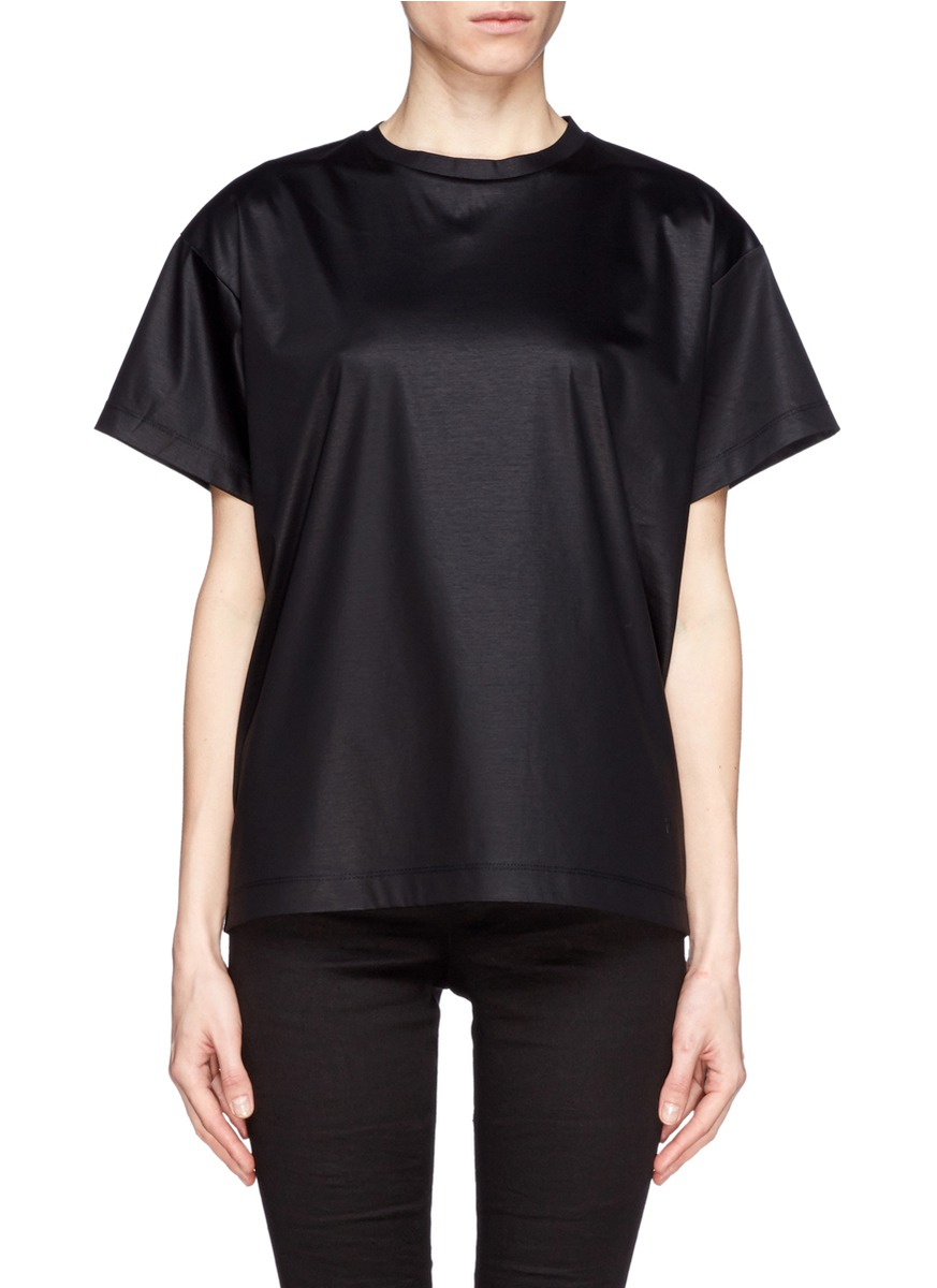 Lyst t by alexander wang chintz cotton jersey boxy t for T by alexander wang t shirt